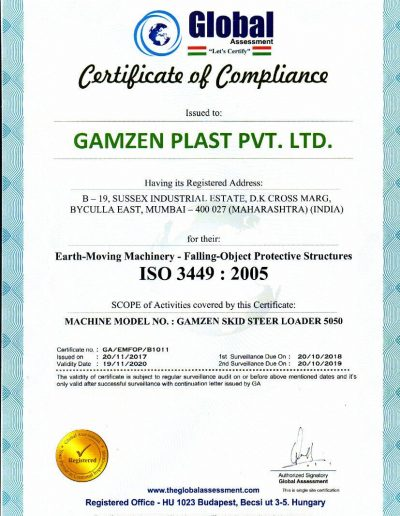 Certificate Of Compliance 1