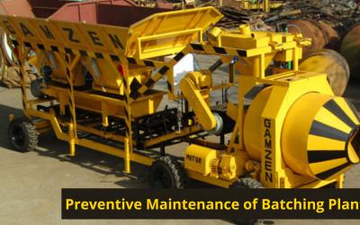 Preventive Maintenance of Batching Plant
